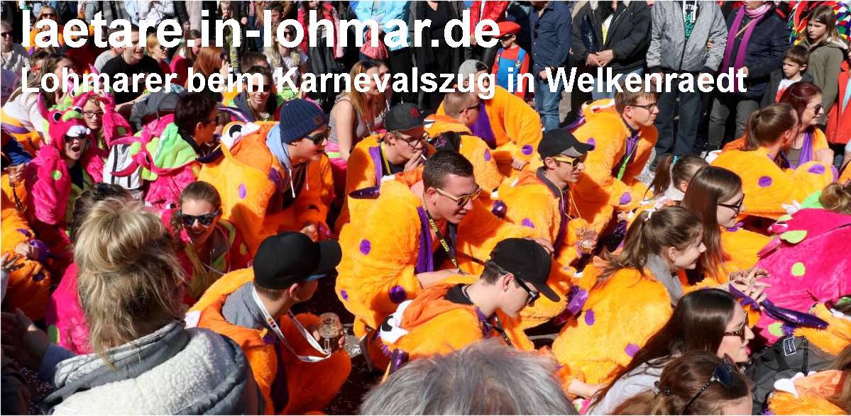 Lohmarer beim Laetare Karneval in Belgien